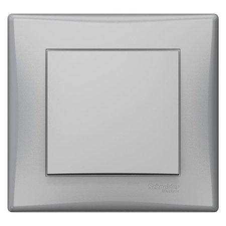 Tlačítko hliník s rámečkem Sedna SDN0700260 Schneider Electric