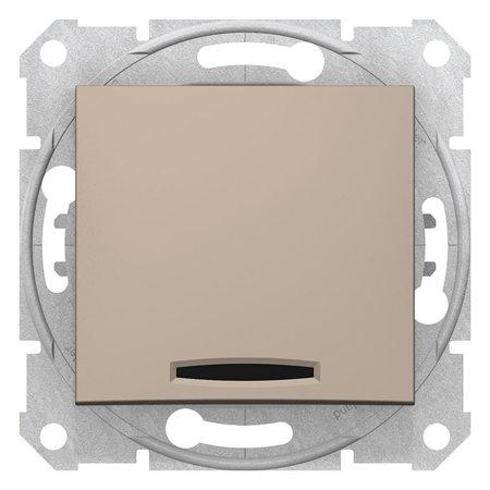 Tlačítko s podsvícením saténová Sedna SDN1600168 Schneider Electric