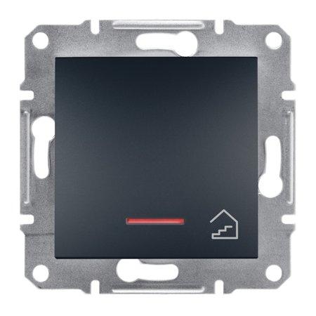 Tlačítko schody s podsvícením bez rámečku, antracit Schneider Electric Asfora EPH1900171