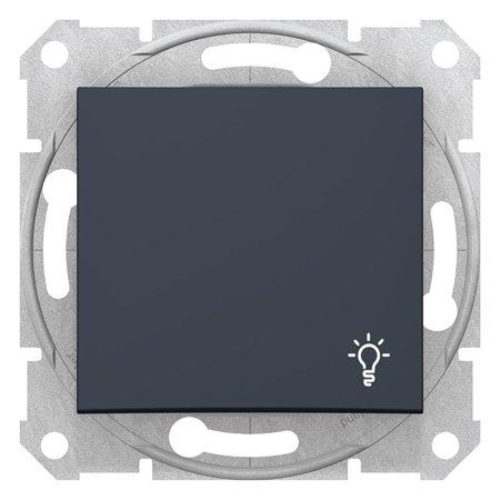"""Tlačítko """"světlo"""" grafitová Sedna SDN0900170 Schneider Electric"""