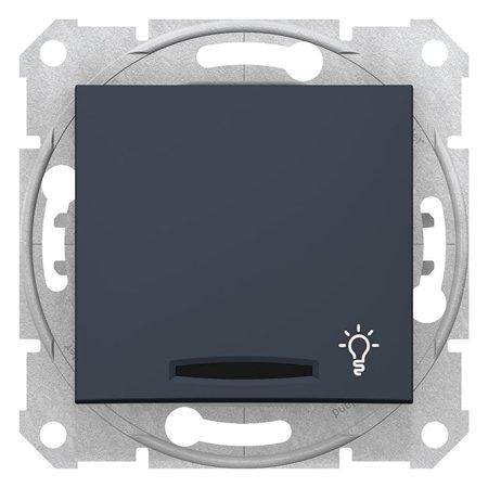 """Tlačítko """"světlo"""" s podsvícením, grafitová Sedna SDN1800170 Schneider Electric"""