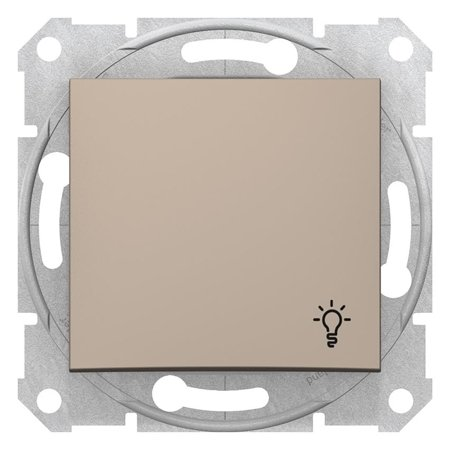 """Tlačítko """"světlo"""" saténová Sedna SDN0900168 Schneider Electric"""