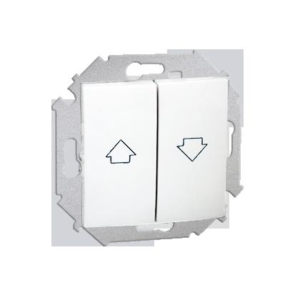 Tlačítko žaluzii (modul) šroubové koncovky, bílý Kontakt Simon 1591335-030
