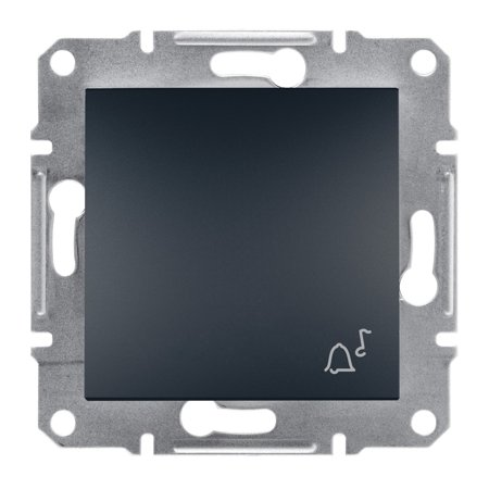 Tlačítko zvonek bez rámečku, antracit Schneider Electric Asfora EPH0800171