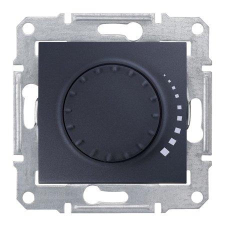 Tlačítkový - otočný stmívač RC grafitová Sedna SDN2200770 Schneider Electric