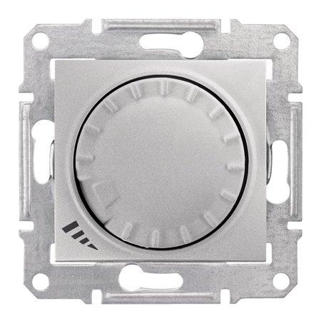 Tlačítkový - otočný stmívač RL/RC, ALUMI Sedna SDN2201160 Schneider Electric