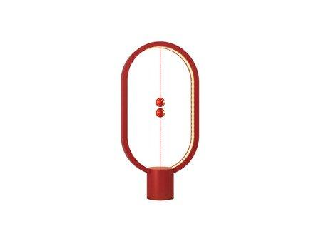 Unikalna lampa z lewitującym wyłącznikiem  Heng Balance Lamp Ellipse - czerwona Allocacoc