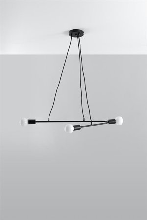 Visící lampa ASTRAL 3 černá E27 SL.0616 Sollux