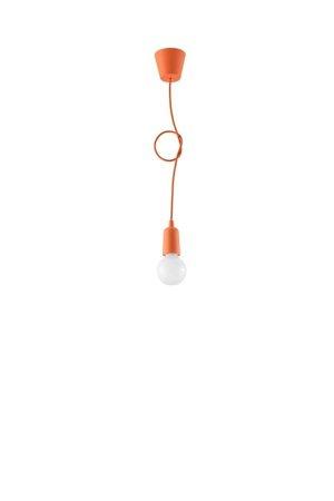 Visící lampa DIEGO 1 oranžová Sollux SL.0584