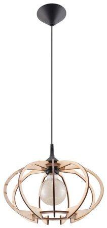 Visící lampa MANDELINO přírodní dřevo Sollux 1xE27 SL.0392