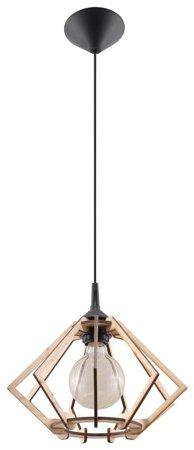 Visící lampa POMPELMO přírodní dřevo 1xE27 Sollux SL.0393