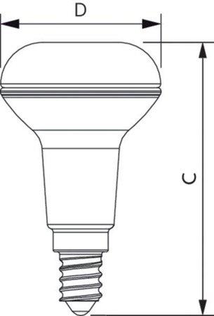 Žárovka LED Philips E14 reflektor 2,8W =40W 2700K ciepły CorePro 871869681175700