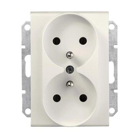 Zásuvka 2 x 2P+PE do rámečkového systému krémová Sedna SDN2800923 Schneider Electric