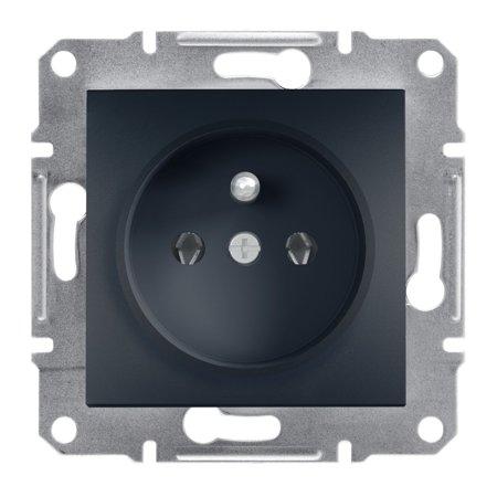 Zásuvka 2P+PE bez rámečku, antracit Schneider Electric Asfora EPH2800171