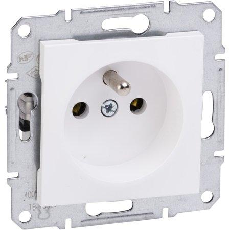 Zásuvka 2P+PE bez rámečku, bílá Schneider Electric Asfora EPH2800721