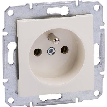 Zásuvka 2P+PE bez rámečku, krémová Schneider Electric Asfora EPH2800723