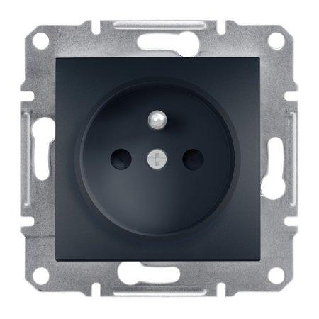Zásuvka 2P+PE s clonami bez rámečku, antracit Schneider Electric Asfora EPH2800271