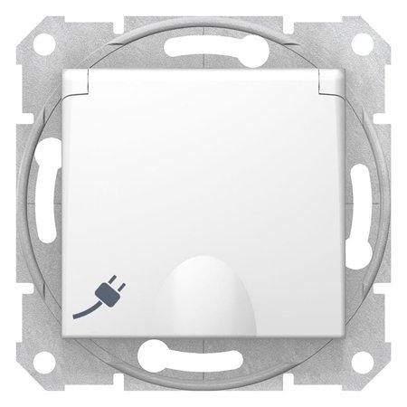 Zásuvka 2P+PE schuko s krytem, bílá Sedna SDN3100121 Schneider Electric