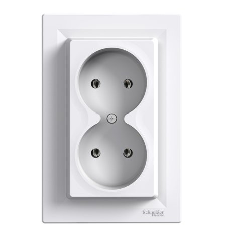 Zásuvka 2x2P, bílá Schneider Electric Asfora EPH9700221