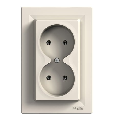 Zásuvka 2x2P, krémová Schneider Electric Asfora EPH9700223