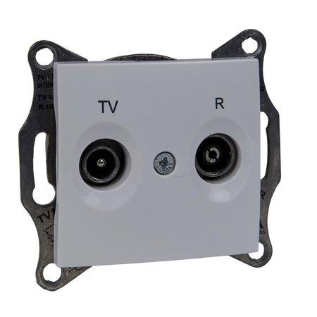 Zásuvka R/TV průchozí 8dB bílá Sedna SDN3301321 Schneider Electric