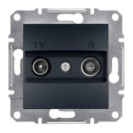 Zásuvka RTV průchozí (4dB) bez rámečku, antracit Schneider Electric Asfora EPH3300271