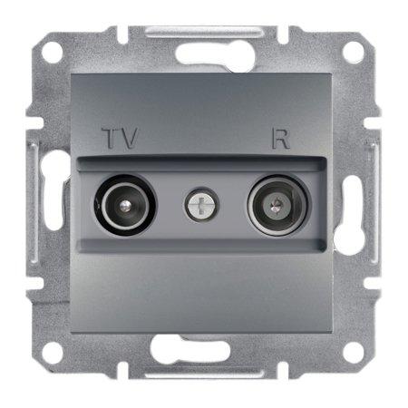 Zásuvka RTV průchozí (4dB) bez rámečku, ocel Schneider Electric Asfora EPH3300262
