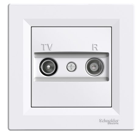 Zásuvka RTV průchozí (4dB) s rámečkem, bílá Schneider Electric Asfora EPH3300221