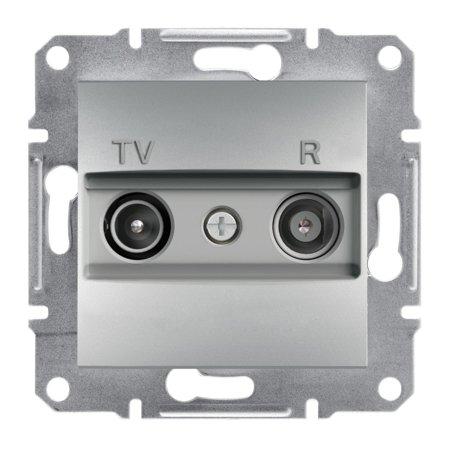 Zásuvka RTV průchozí (8dB) bez rámečku, hliník Schneider Electric Asfora EPH3300361