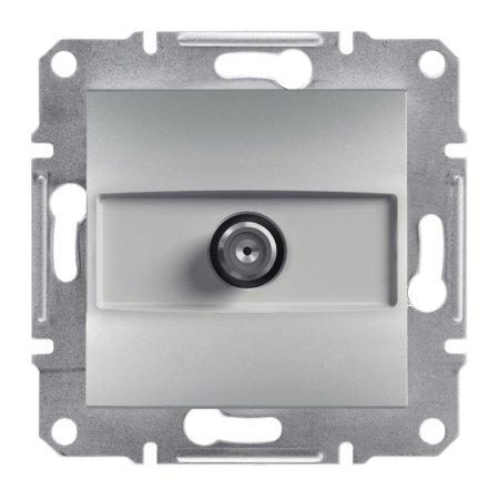 Zásuvka SAT koncová bez rámečku, hliník Schneider Electric Asfora EPH3700161