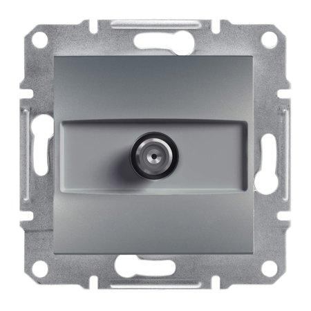 Zásuvka SAT průchozí bez rámečku, ocel Schneider Electric Asfora EPH3700262