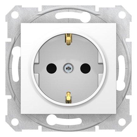 Zásuvka SCHUKO s clonami bílá Sedna SDN3001721 Schneider Electric