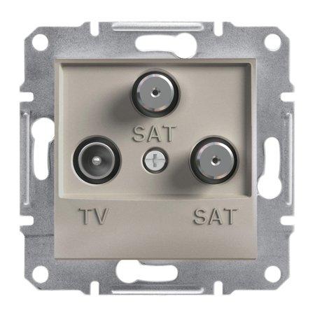 Zásuvka TV-SAT-SAT koncová (1dB) bez rámečku, hnědá Schneider Electric Asfora EPH3600169
