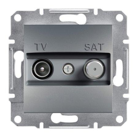 Zásuvka TV-SAT koncová (1dB) bez rámečku, ocel Schneider Electric Asfora EPH3400162