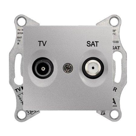 Zásuvka TV/SAT koncová hliník Sedna SDN3401660 Schneider Electric