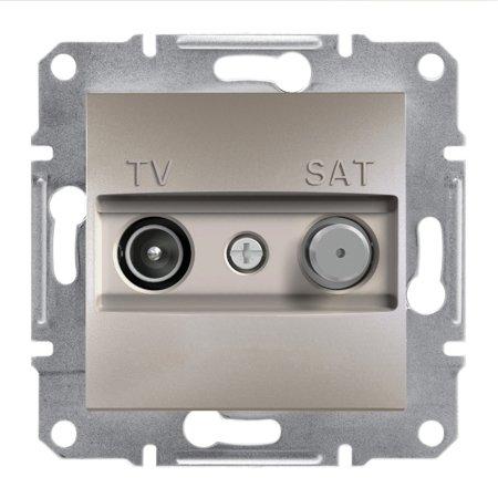 Zásuvka TV-SAT průchozí (4dB) bez rámečku, hnědá Schneider Electric Asfora EPH3400269