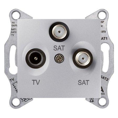 Zásuvka Tv/SAT/SAT koncová hliník Sedna SDN3502160 Schneider Electric