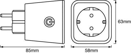 Zásuvka bílá SMART+ Plug Bluetooth OSRAM