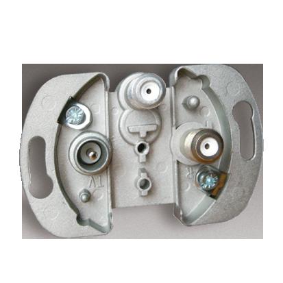 Zásuvka elektro-SAT-SAT koncová jednonásobná (elektro-1,5dB 5dB) Kontakt Simon 82 75496Z-69