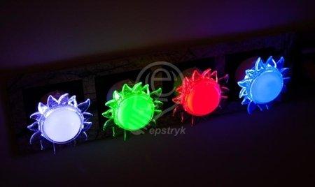 Zásuvková lampa, słońce, 0,4W 4 LED HL991L 02261 Horoz