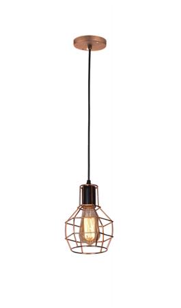 Závěsná lampa Carron 1 měď Azzardo MD50148-1