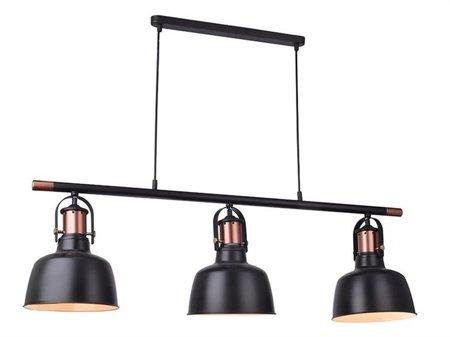 Závěsná lampa Darling 3 line černá Azzardo MD50686-3A