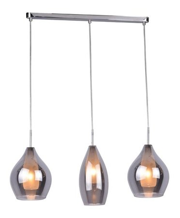Závěsná lampa Milano 3 chrom kouřová Azzardo 2285-3P