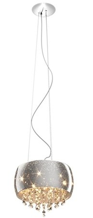 Závěsná lampa kulatá 40cm stříbrná křišťál Zuma Line Vista Pendant P0076-05K-F4GR