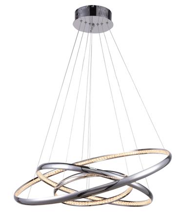 Závěsná lampa obruče Brighton 3 chrom Azzardo MP57043-3