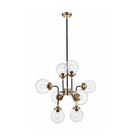 Závěsná lampa zlatá koule baňky 8xE27 Zuma Line Riano Pendant P0454-08D-SDAC