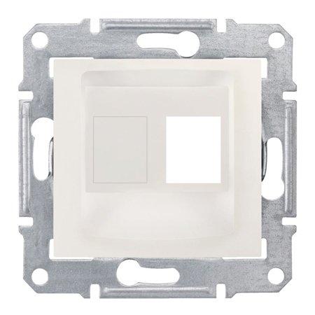 deska do 1xRJ45: AMP, MOLEX krémová Sedna SDN4300623 Schneider Electric